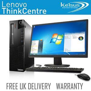 Windows 7 Dell HP Lenovo Desktop PC 4GB RAM 500GB HDD Computer TFT Bundle Set