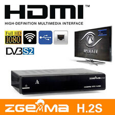 2017 ZGEMMA H.2S DVB-S2 DUAL CORE SATELLITE RECEIVER TWIN TUNER FREE TO AIR