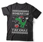 Ugly Christmas Sweater T-ReXmas T-shirt Funny Christmas Shirt Funny T-Rex Tshirt