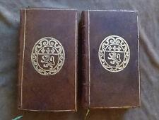 FENELON. DIALOGUES DES MORTS.1725. Seconde édition revue.2 vol. Armes sur plats
