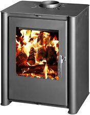 Poêle à bois cheminée brûleur foyer chauffage au Céramique Verre 10kW tangra