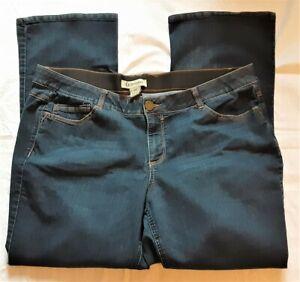 Democracy Jeans Ab Solution 22 Indigo Straight Leg
