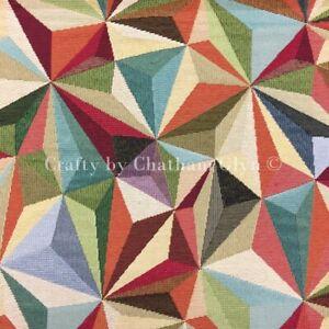 New World Tapestry Fabric Luxury Weight Cotton Rich 1.4m wide Big Harlequinn