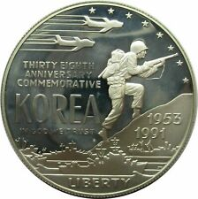 USA One Dollar 1991 P Korea Kriegs-Denkmal Proof