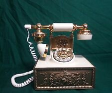 Vintage Western Electric French Style Rotary Phone Ivory Gold by Deco-Tel