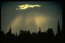 380058 Sunburst Through Rain Clouds Alaska A4 Photo Print