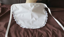 WHITE WAIST APRON - ADULTS 50'S STYLE / FRENCH MAID PINNY - Lace Trimmed