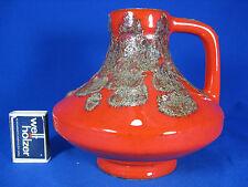 70´s Heinz Martin design Jopeko Keramik pottery vase red & brown lava  47 15