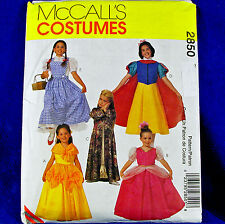 McCall's 2850 Fairy Tale Classic Character Costume sewing Pattern 5 looks sz 2-3