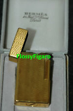 AUTHENTIC HERMES DUPONT GOLD PLATED BRIQUE LIGHTER - PRE-OWNED - SUPER RARE