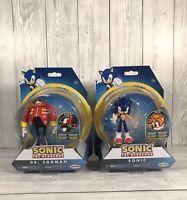"""SONIC & DR EGGMAN - Sonic The Hedgehog Bundle - Jakks 4"""" Bendable Action Figure"""