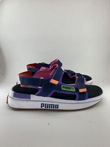 Puma Future Rider Sandal Game On Purple Denim White Men Summer 371964-03 EUC