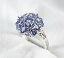 Genuine Blue Violet Tanzanite Ring 1.40ct  925 Sterling Silver Size 7