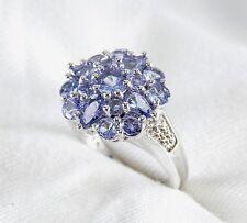 Genuine Blue Violet Tanzanite Ring 1.40ct  925 Sterling Silver Size 7 List $370