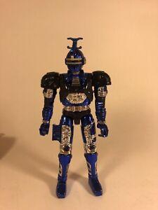 "Vintage 1996 Bandai Big Bad Beetleborgs BLUE STINGER Action Figure 5.5"""