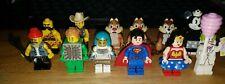 LEGO Series Minifigure lot of 12 Wonder Woman Superman Joker Green Brick Minnie