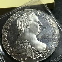 1780 AUSTRIA SILVER MARIA THERESA RESTRIKE THALER CROWN PROOF LIKE