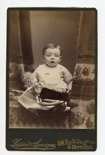 Little Girl with Doll, Vintage Photo by Lapres & Lavergne, Montreal, Quebec