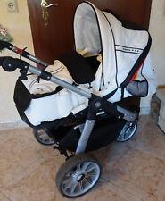 Fußball WM Edition Teutonia Kombi Kinderwagen Jogger schwarz weiß Leder Buggy