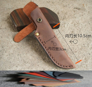 Blade knife cover scabbard sheath pouch case cow leather customize brown A950