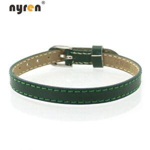 10pcs Genuine Leather Charms Bangle Bracelet 8mm Width Charms DIY Jewelry 07050