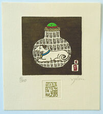 Malou Hung, Hong Kong, Exlibris  Radierung etching  9/300