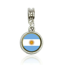 Flag of Argentina Euro European Italian Style Bracelet Bead Charm