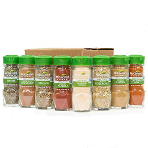 McCormick Gourmet Organic Spice Rack Refill, 8 Herbs & Spices Included