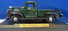 1941 Plymouth Pickup Die Cast Toy by Motor Max Moving Parts Stands on Platform