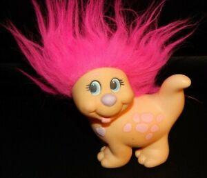 1985 PLAYSKOOL Vintage SNUGGLEBUMMS Family TRUSTY LUCKY Snugglepets Dog Pink