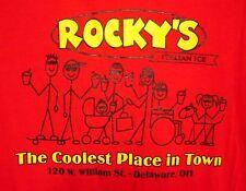 ROCKY'S defunct Gourmet Italian Ice T shirt Delaware XL tee Ohio gelatos
