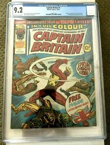 Captain Britain 1 CGC 9.2 Pre-dates Marvel Team-Up 65