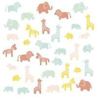 ANIMAL SILHOUETTE 36 Wall Decals Little Explorer Room Decor Stickers Lion Zebra