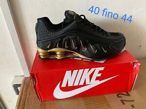 Nike Shox ✅Garanzia ebay ✅ Colore Nero/ Loghi Oro 👉 dal 40 Al 44