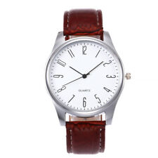 Men's Fashion Watches Business Leather Band Quartz Analog Casual Wrist Watch