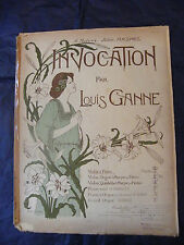 Partition Invocation Louis Ganne Music Sheet Grand Format