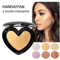 Eyeshadow Contour Rainbow Highlighter Shimmer Cosmetic Blush Blusher Powder--
