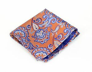 Lord R Colton Masterworks Pocket Square - Pisaq Tapestry Silk - $75 Retail New