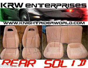1982-92 PONTIAC FIREBIRD KNIGHT RIDER KITT KARR UPHOLSTERY PMD SEAT COVERS SOLID