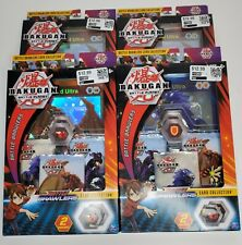 4 Bakugan Battle Planet Brawlers Card Collection Booster Packs With BakuCores