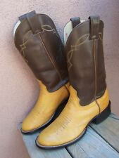 NOCONA Womens Cowboy Boots Soft Golden Palomino Leather Western Riding Size 6D