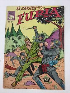 1974 SPANISH COMIC EL SARGENTO FURIA #204 SGT NICK FURY LA PRENSA MEXICO ESPAÑOL