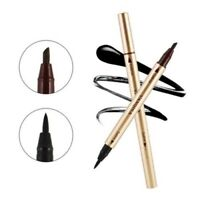 Waterproof Eye Brow Eyeliner Liquid Eyebrow Pen Pencil Makeup Cosmetic 2in1 Set