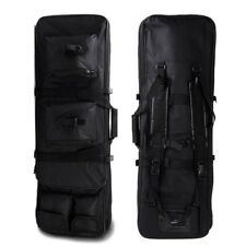 "85CM/34"" Tactical Military Dual Rifle Gun Bag Carry Case Shoulder Backpack Black"