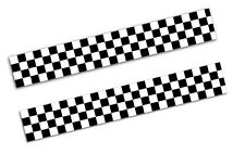 2 x Vinyl Stickers Chequered Flag Motorsport Car Auto Moto Racing Rally B 122