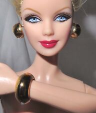 JEWELRY ~ LOT BARBIE DOLL BASICS PLASTIC FAUX GOLD HOOPS EARRINGS CUFF BRACELET
