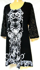 plus sz XS /14 VIRTUELLE by TS TAKING SHAPE Ivorie Tunic stretch ornate Top NWT!