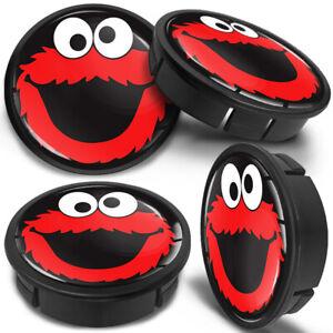 4x 60mm Elmo Cookie Felgen Kappe Nabenkappen Felgendeckel Nabendeckel Radkappen