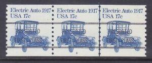 US 1906a 17¢ Electric Auto PNC Strip of 3 Plate #3 Line