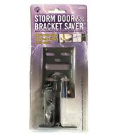 IPS Storm Door & Saver with Replacement Door Closer Jamb Bracket | Black